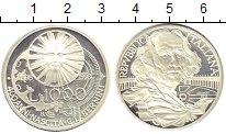 Изображение Монеты Италия 1000 лир 1998 Серебро UNC 400 - летие  Джованн
