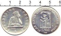 Изображение Монеты Италия 500 лир 1988 Серебро UNC