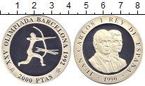 Изображение Монеты Испания 200 песет 1990 Серебро Proof