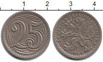 Изображение Монеты Чехословакия 25 хеллеров 1933 Медно-никель XF