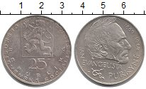 Изображение Монеты Чехословакия 25 крон 1969 Серебро XF Выдающиеся личности: