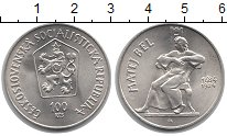 Изображение Монеты Чехословакия 100 крон 1984 Серебро UNC Матей  Бел.