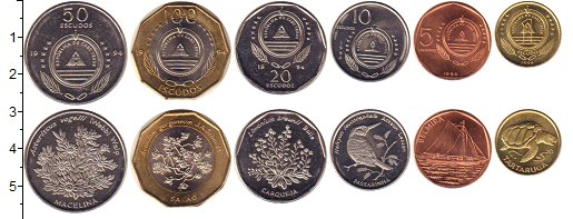 Изображение Наборы монет Кабо-Верде Кабо-Верде 1994 1994  UNC-