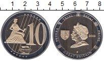 Изображение Мелочь Великобритания 10 евро 2008 Медно-никель UNC