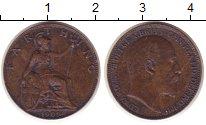 Изображение Монеты Великобритания 1 фартинг 1909 Бронза XF