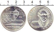 Изображение Монеты Италия 500 лир 1992 Серебро UNC Олимпиада 92. Барсел