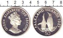 Изображение Монеты Великобритания Фолклендские острова 50 пенсов 1987 Серебро Proof