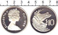Изображение Монеты Фиджи 10 долларов 1986 Серебро Proof