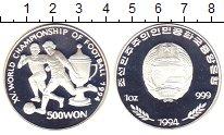 Изображение Монеты Северная Корея 500 вон 1994 Серебро Proof