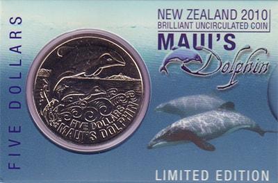 Изображение Подарочные наборы Новая Зеландия Дельфин Мауи 2009 Медно-никель BUNC