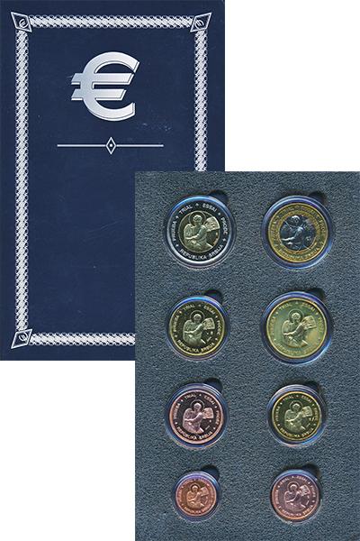 Изображение Подарочные монеты Сербия Европроба 2004 2004  UNC Набор фантазийных ев