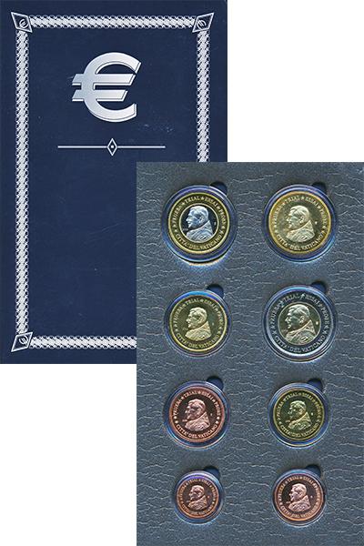 Изображение Подарочные монеты Ватикан Европроба 2006 2006  UNC Набор фантазийных ев