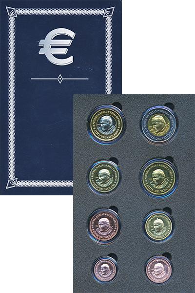 Изображение Подарочные монеты Ватикан Европроба 2005 2005  UNC Набор фантазийных ев