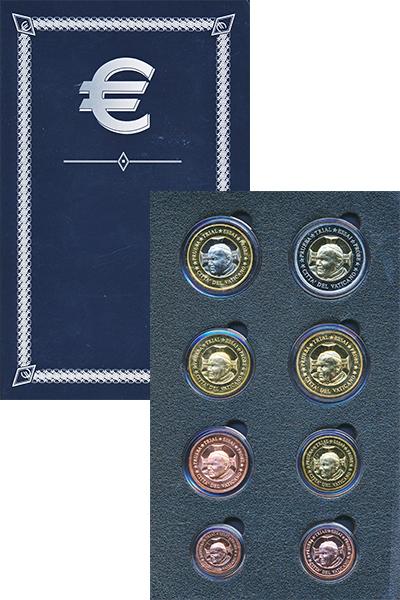 Изображение Подарочные монеты Ватикан Европроба 2002 2002  UNC-