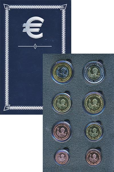 Изображение Подарочные монеты Ватикан Европроба 2009 2009  UNC Набор фантазийных ев