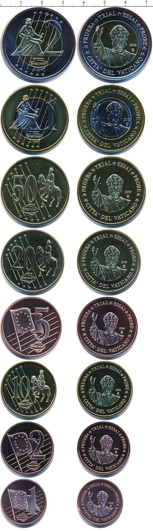 Картинка Подарочные монеты Ватикан Европроба 2009  2009