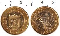 Изображение Монеты Финляндия 5 евро 2011 Биметалл UNC Золочение