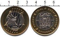 Изображение Монеты Андорра 1 евро 2003 Биметалл UNC ПРОБА.