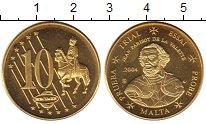 Изображение Монеты Мальта 10 евроцентов 2004 Латунь UNC-
