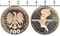 Изображение Монеты Польша 100 злотых 1974 Серебро Proof-