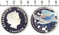 Изображение Монеты Австралия 1 доллар 2014 Серебро Proof Елизавета II.  Цветн