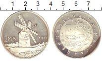 Изображение Монеты Мальта 5 фунтов 1977 Серебро XF Ветряная  мельница.