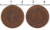 Изображение Монеты Дания 1 скиллинг 1856 Медь XF Фредерик  VII.