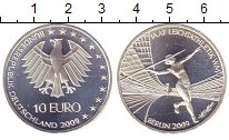Изображение Монеты Германия 10 евро 2009 Серебро UNC- Чемпионат  мира  по