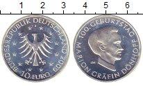 Изображение Монеты Германия 10 евро 2009 Серебро UNC- Мэрион  Дёнхофф.  J