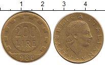 Изображение Дешевые монеты Италия 200 лир 1980 Латунь XF