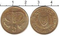 Изображение Дешевые монеты Кипр 5 центов 1992 Латунь XF