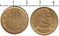 Изображение Дешевые монеты Чили 10 песо 1999 Латунь XF