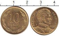 Изображение Дешевые монеты Чили 10 песо 2008 Латунь XF