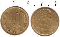 Изображение Дешевые монеты Чили 10 песо 2005 Латунь XF
