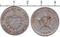 Изображение Дешевые монеты Куба 5 сентаво 1968 Медно-никель XF-