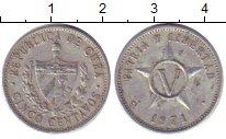 Изображение Дешевые монеты Куба 5 сентаво 1971 Алюминий XF-