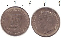Изображение Дешевые монеты Венесуэла 50 сентим 1965 Медно-никель XF