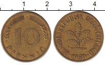 Изображение Дешевые монеты Германия ФРГ 10 пфеннигов 1950 Латунь-сталь XF-