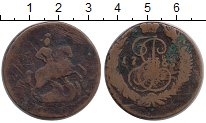 Изображение Монеты 1762 – 1796 Екатерина II 2 копейки 1765 Медь VF