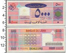 Изображение Банкноты Ливан 5000 ливр 0  UNC-
