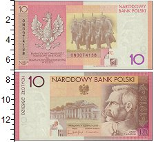 Изображение Боны Польша 10 злотых 2004  UNC-