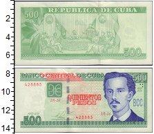 Банкнота Куба 500 песо 2010 UNC-