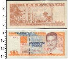 Банкнота Куба 200 песо 2010 UNC-