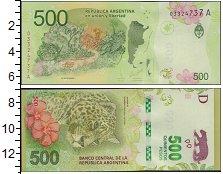 Изображение Банкноты Аргентина 500 песо 2016  UNC- Новая банкнота Арген