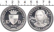Изображение Монеты Андорра 10 динерс 1997 Серебро Proof Антонио  Вивальди.