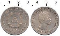 Изображение Монеты ГДР 10 марок 1966 Серебро XF+