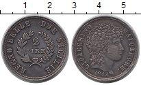 Изображение Монеты Сицилия 2 лиры 1813 Серебро XF Наполеон