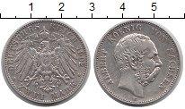 Изображение Монеты Германия Саксония 2 марки 1902 Серебро XF-