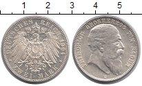 Изображение Монеты Баден 2 марки 1904 Серебро UNC-