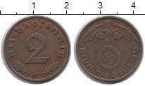 Изображение Монеты Третий Рейх 2 пфеннига 1936 Бронза XF F